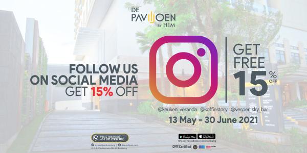 instagram promo De Paviljoen Bandung